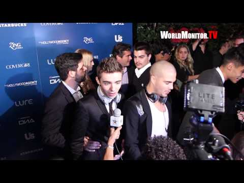 The Wanted Band arrive at Us Weekly American Music Awards after party 2012