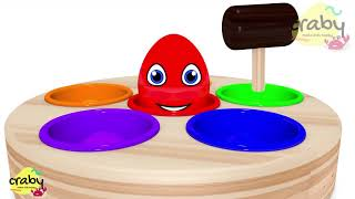 Learn Colors for Kids Johny Johny Yes Papa Song and Whack a Mole Nursery Rhymes with Surprise Egg