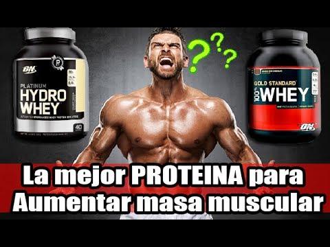 cual es el mejor proteina para ganar masa muscular