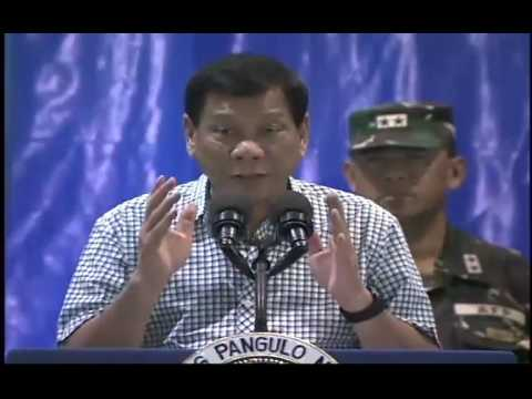 Speech of President Rodrigo Roa Duterte.
