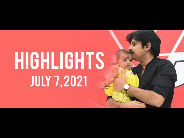 Highlights of JanaSena Chief Pawan Kalyan addressing issues | Janasena Party | (July 7, 2021)