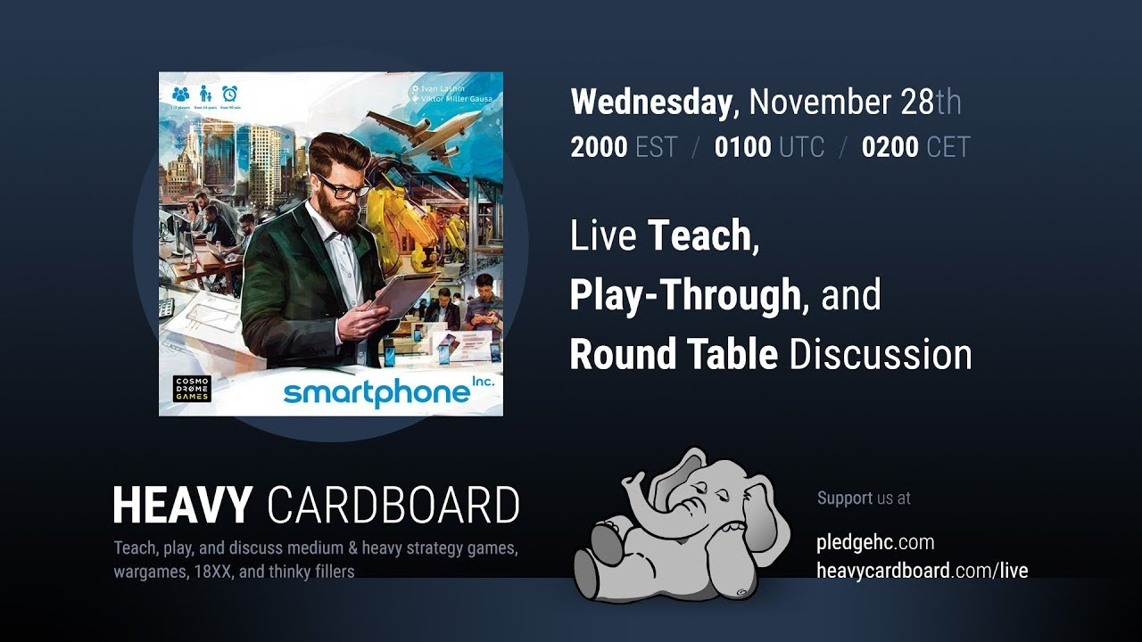 Smartphone Inc 5p Play-through, Teaching, & Roundtable discussion by Heavy  Cardboard