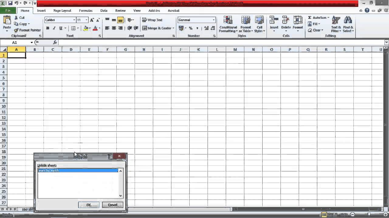 Introduction to Excel sheets - (Hindi / Urdu)