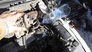 3.Установка помпы на двигатель Лада Калина