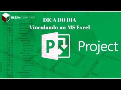 Vínculo entre o MS Project e uma Planilha do MS Excel