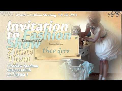 Invitation to Theo Doro Fashion Show, June 2014