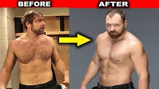 10 Amazing WWE Body Transformations - Dean Ambrose, Undertaker & more