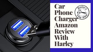 Amazon Review Fast Charge Cigarette Lighter USB Adapter Car Phone Charger Unboxing, Rating, and more