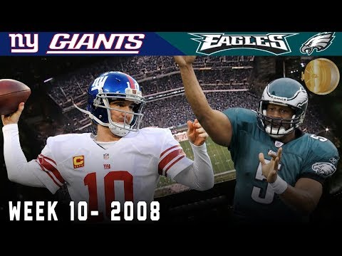 A Sunday Night NFC East Showdown! (Giants vs. Eagles, 2008) | NFL Vault Highlights
