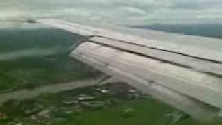 Lion Air B737-400 Landing in Pontianak, West Kalimantan-Indonesia