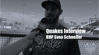 Dodgers: Quakes Pitcher Sven Schueller from Germany