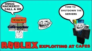 Roblox Exploiting - Trolling Cafes