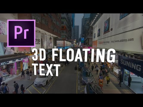 3d Floating Text Premiere Pro Tutorial // Chung Dha thumbnail