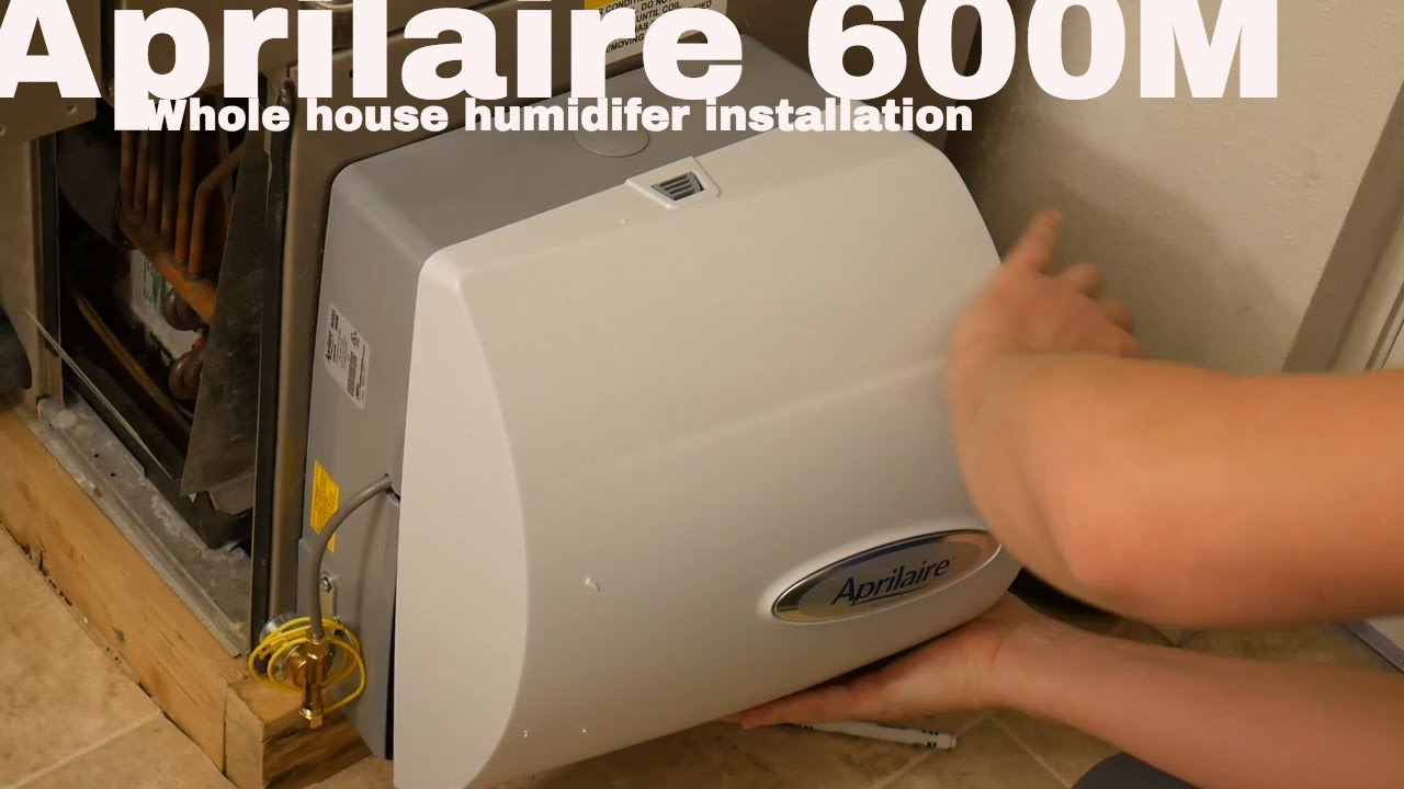 aprilaire 600 humidifier installation get rid of dry air in your whole home  [ 1280 x 720 Pixel ]