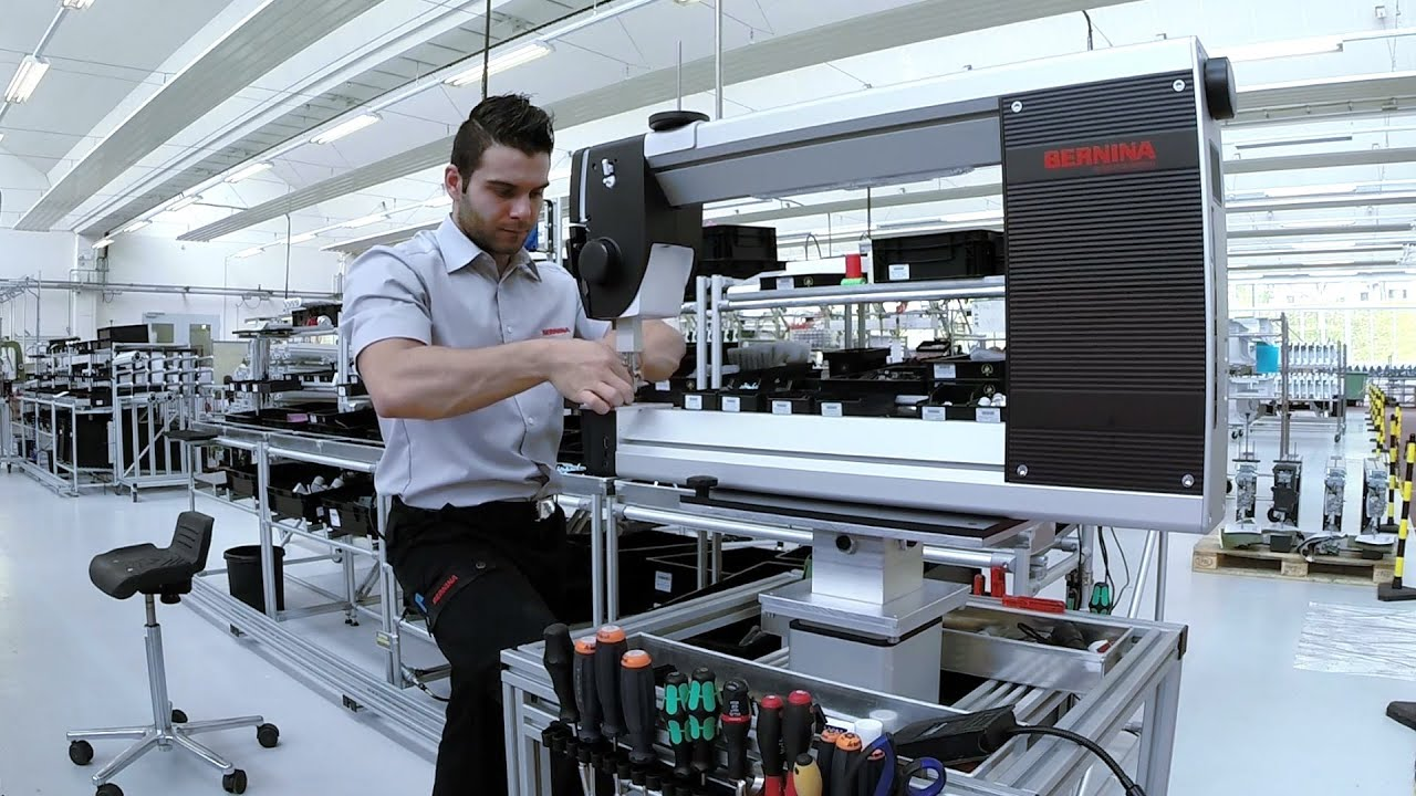 Bernina Q 24 Manufacturing Of The Bernina Longarm Quilting Machine