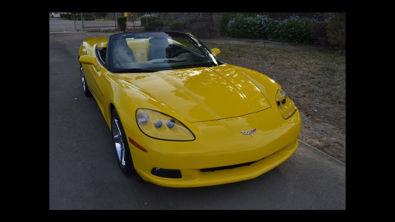 sold 2007 yellow corvette convertible for sale by corvette mike anaheim california youtube. Black Bedroom Furniture Sets. Home Design Ideas
