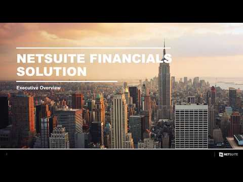 Financials First – Executive Overview