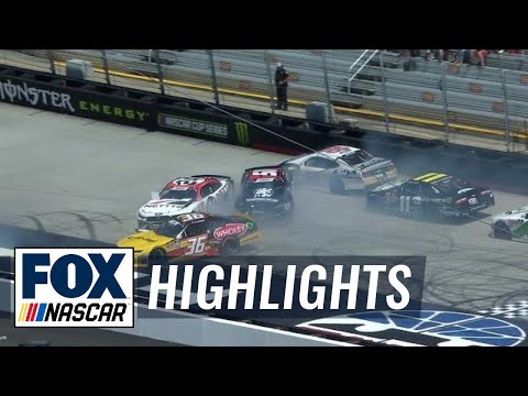 Christopher Bell triggers big pileup early in Bristol | 2018 NASCAR XFINITY SERIES | FOX NASCAR