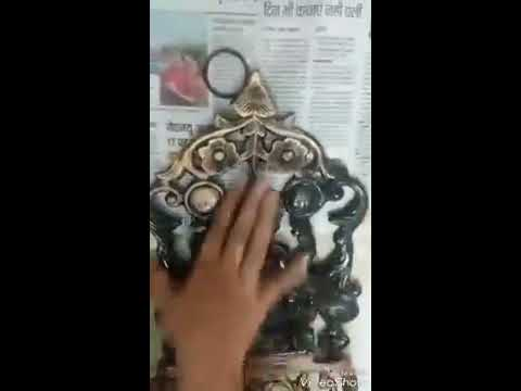 DIY -How to make simple wall decor metal items into Antique Finish  #dcraftcreations
