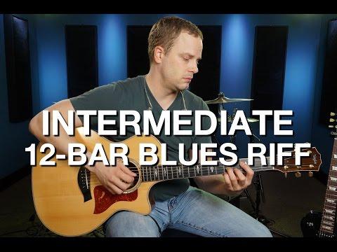 Intermediate 12 Bar Blues Riff - Blues Guitar Lesson #5