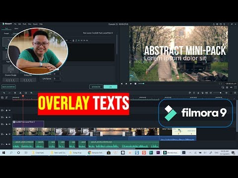 How to Overlay Texts on Video in Filmora 9
