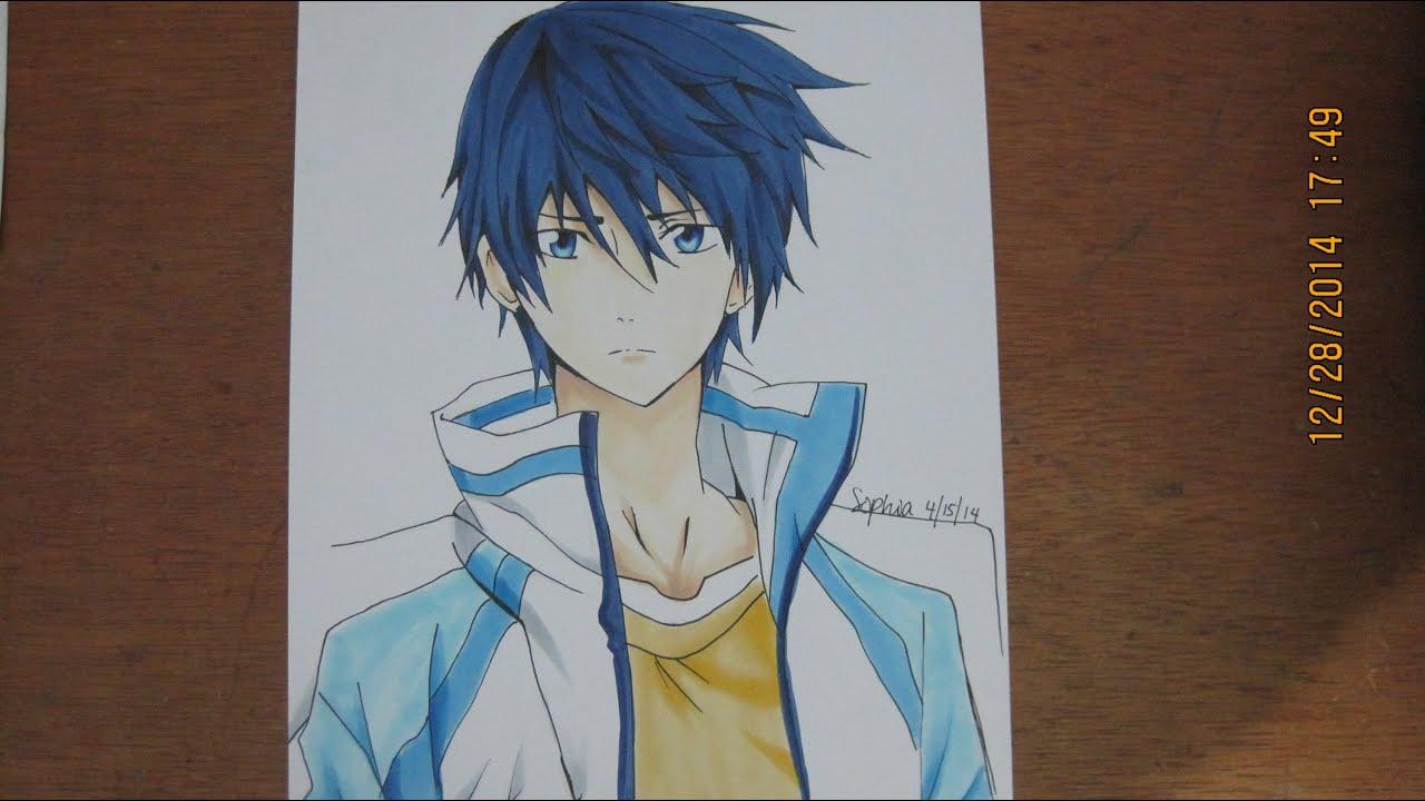 Free Iwatobi Swim Club Drawing And Coloring Haruka Nanase