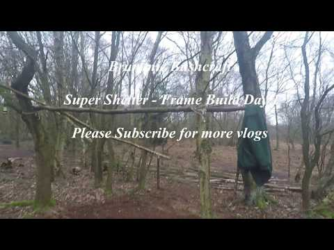 Camp Buzzard - Super Shelter Lean To -Frame Build Day 1