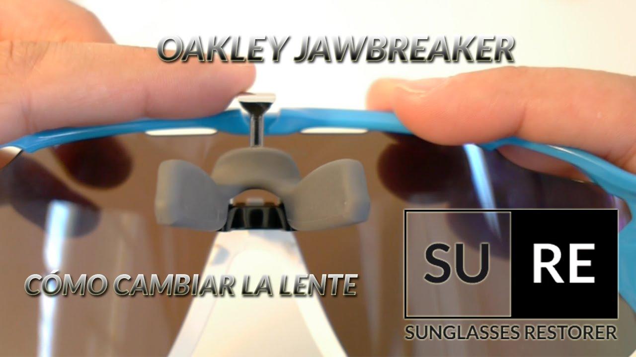 cambiar lente oakley jawbreaker