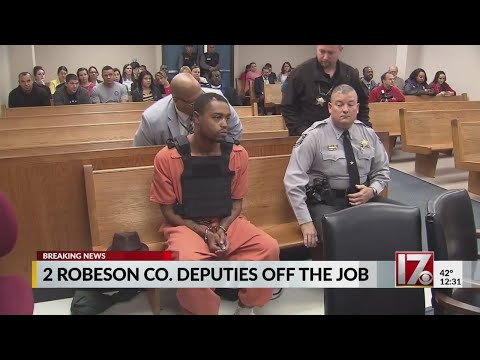 2 Robeson County deputies off the job after investigation into rape connected to Aguilar case