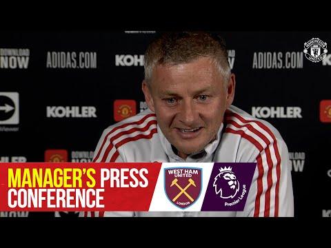 Manager's press conference |  West Ham v Manchester United |  Ole Gunnar Solskjaer |  Premier league
