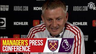 Manager's Press Conference | West Ham v Manchester United | Ole Gunnar Solskjaer | Premier League screenshot 4