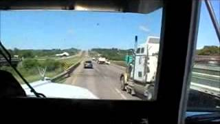 kenworth w900l LOUD E BLOCK KITTY CAT jake down hill and pull up hill fully loaded super b