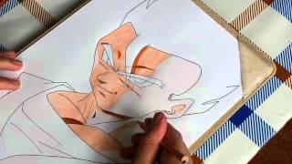 How to draw Mystic Gohan 孫 悟飯