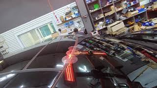 메르세데스 벤츠 S500 차량의 깨진 자동차앞유리교환,…