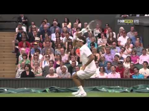 Roger Federer Slow Motion Forehand 2012 #2