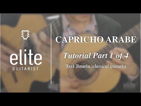 Learn to Play Capricho Arabe - EliteGuitarist.com Classical Guitar Tutorial 1/4
