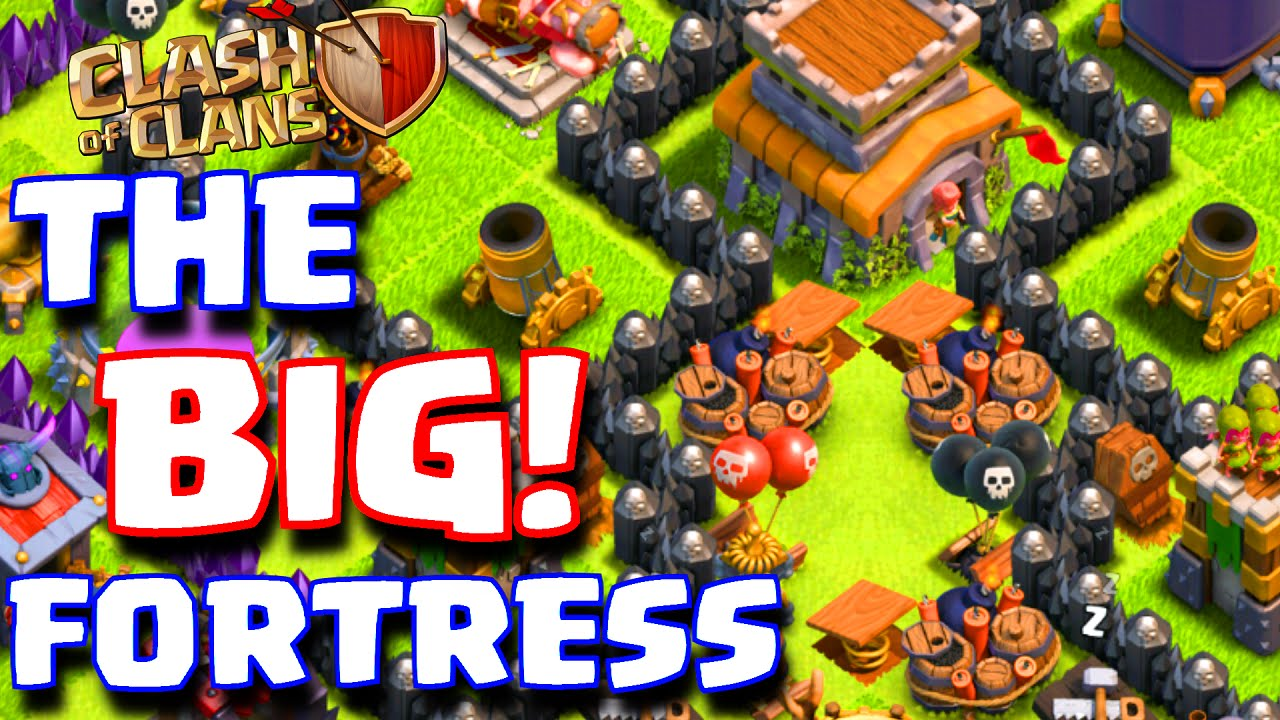 Clash of clans quot the fortress quot best townhall 8 troll base th8 best