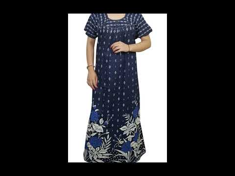 f28480aa17 Women s Printed Cotton Maxi Nighty - YouTube
