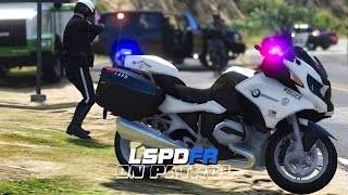 LSPDFR - Day 293 - LSPD Motorcycle Patrol (Live Stream)