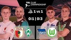 RE-LIVE | Virtual Bundesliga | Augsburg v Werder | Hertha v Wolfsburg | PlayStation 1 vs 1