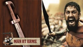 King Leonidas' Sword (300) - MAN AT ARMS(Which weapon will be next? ▻ Subscribe! http://bit.ly/AWEsub Every other Monday, master swordsmith Tony Swatton forges your favorite weapons from video ..., 2014-05-19T17:00:35.000Z)