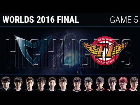 SKT vs SSG Game 5 Highlights, S6 Worlds 2016 Grand Final, SK Telecom T1 vs Samsung Galaxy G5