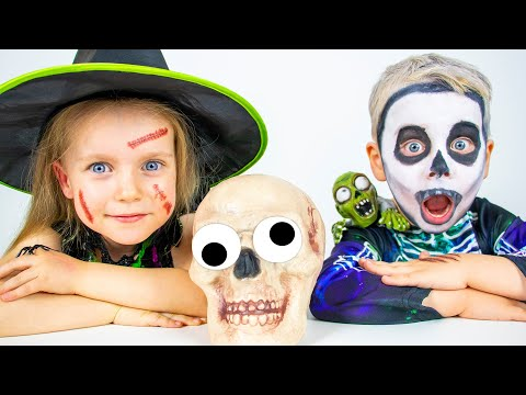 Halloween Trick or Treat with Gaby and Alex