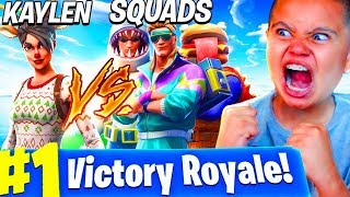 MY LITTLE BROTHER PLAYS SOLO SQUADS LIKE TFUE!!! HE DROPPED 18 KILLS! FORTNITE BATTLE ROYALE