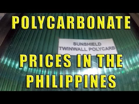 Polycarbonate Roofing Prices In The Philippines Youtube