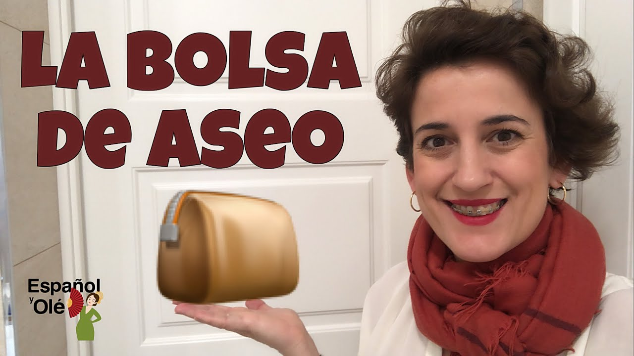 ✔ VOCABULARIO de la BOLSA de ASEO.| Cosas que hay dentro del NECESER. ✈🚗🤳 Español para vacaciones.