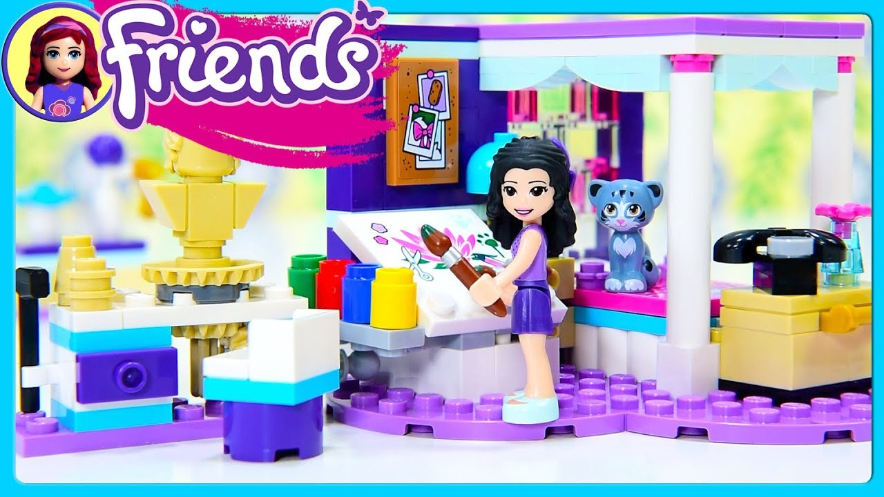 Room 2 Build Bedroom Kids Lego: Emma's Deluxe Bedroom LEGO Friends Build Review Silly Play