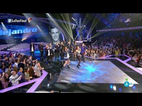 """Equipo Alejandro Sanz: """"No Es Lo Mismo"""" - Final - La Voz 2016"""
