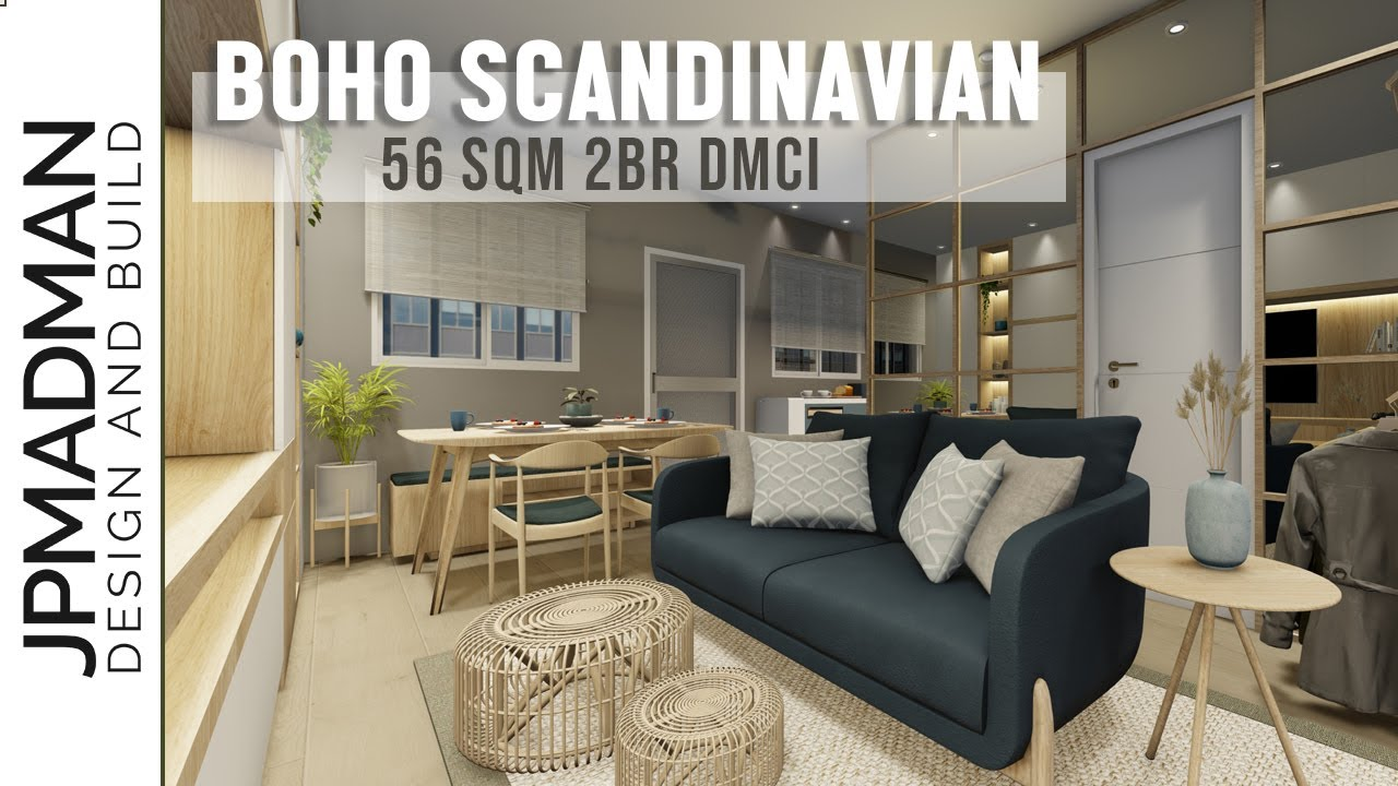 2br Dmci Condo Renovation Boho Scandinavian Style Interior Design Lumiere Residences Youtube