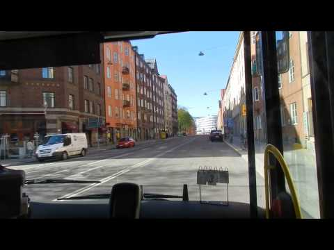Stockholm - Bus Number 3 from Sankt Eriksplan to Karolinska Institutet 2015 04 26